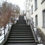 Noch einige Stufen hinauf