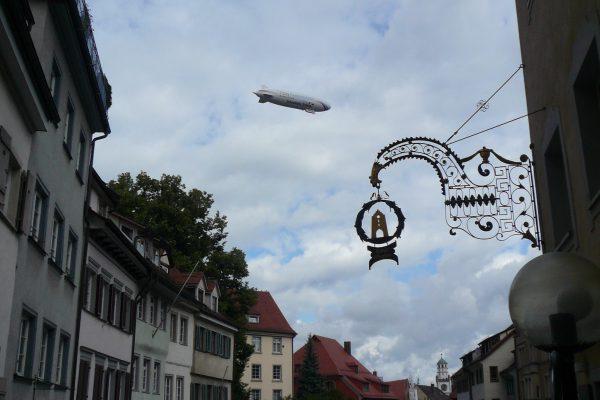 Zeppelin über Ravensburg