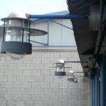 Außenlampenreihe