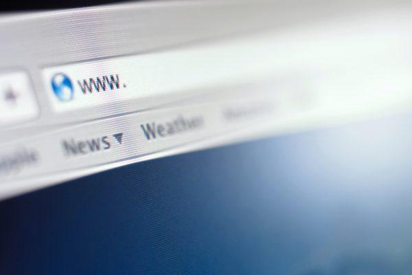 Unausgefüllte Adressleiste des Browsers