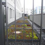Grüne Flächen lockern das Gesamtbild auf