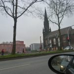 Verdeckt den Blick aufs Gericht - Baustelle für das Musikzentrum Bochum