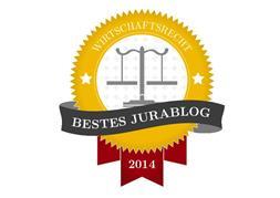 Bestes Jurablog 2014 in der Kategorie Wirtschaftsrecht