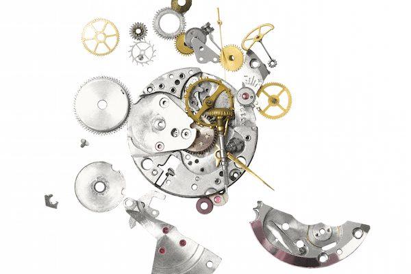 Aufgelöste Uhr