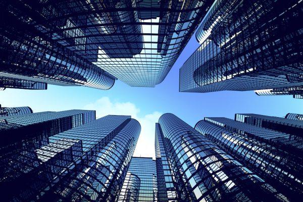 Gebäude der Finanzwelt