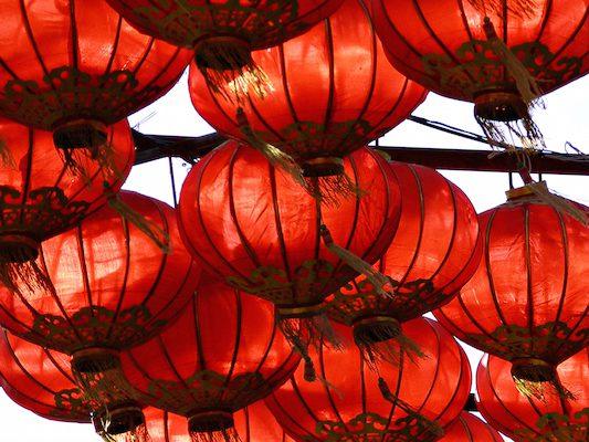 Rote Lampions