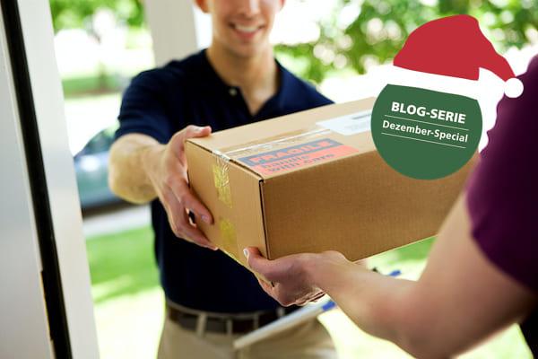 Paketlieferung Arbeitsplatz